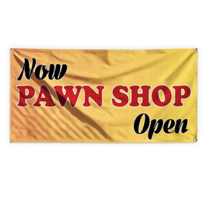 Now Pawn Shop Open Advertising Printing Vinyl Banner Sign With Grommets