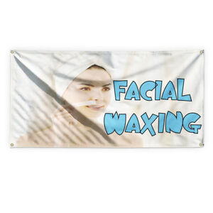 Facial Waxing Outdoor Advertising Printing Vinyl Banner Sign With Grommets