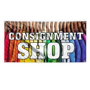 Consignment Shop Advertising Printing Vinyl Banner Sign With Grommets