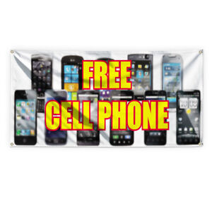 Free Cell Phone Outdoor Advertising Printing Vinyl Banner Sign With Grommets