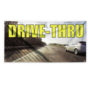 Drive Thru Outdoor Advertising Printing Vinyl Banner Sign With Grommets
