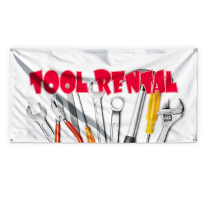 Tool Rental 3 Outdoor Advertising Printing Vinyl Banner Sign With Grommets