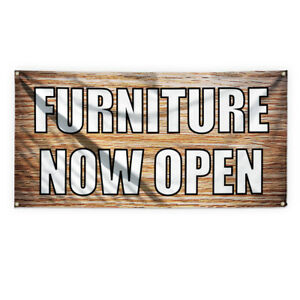 Furniture Now Open Advertising Printing Vinyl Banner Sign With Grommets