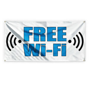 Free Wi fi 3 Outdoor Advertising Printing Vinyl Banner Sign With Grommets