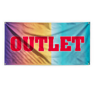 Outlet Outdoor Advertising Printing Vinyl Banner Sign With Grommets