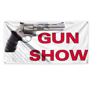 Gun Show Outdoor Advertising Printing Vinyl Banner Sign With Grommets