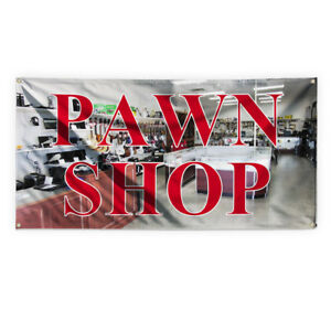 Pawn Shop 1 Outdoor Advertising Printing Vinyl Banner Sign With Grommets