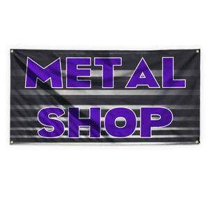 Metal Shop Outdoor Advertising Printing Vinyl Banner Sign With Grommets