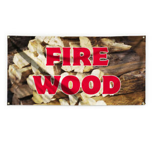 Fire Wood 1 Outdoor Advertising Printing Vinyl Banner Sign With Grommets