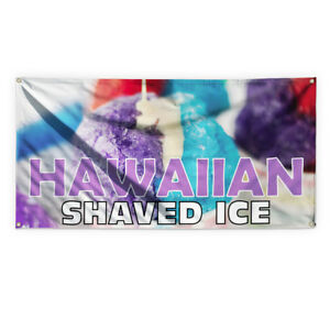 Hawaiian Shaved Ice 1 Advertising Printing Vinyl Banner Sign With Grommets