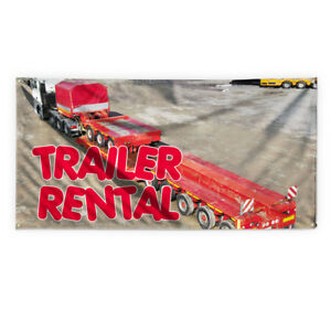 Trailer Rental Outdoor Advertising Printing Vinyl Banner Sign With Grommets