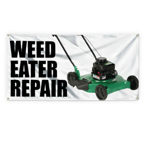Weed Eater Repair Advertising Printing Vinyl Banner Sign With Grommets