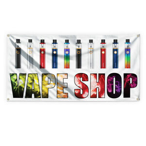 Vape Shop 2 Outdoor Advertising Printing Vinyl Banner Sign With Grommets