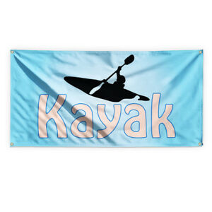 Kayak Outdoor Advertising Printing Vinyl Banner Sign With Grommets