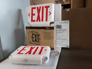 Hubbell Lighting Dual lite Exit Sign Emergency Lights Evcurwd4i New Nos 49