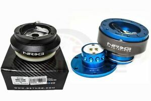 Nrg Steering Wheel Combo Kit 2 0 Qr Blue Titanium Short Hub Adapter Srk 110h