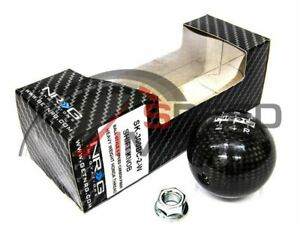 Nrg Ball Round Carbon Fiber Weighted Shift Knob 10x1 5mm Civic Integra Eg Ek