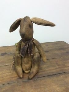 14 Floppy Ear Bunny Rabbit Doll Primitive Grungy Carrot Pine Creek Otis