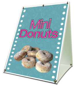 Mini Donuts Sidewalk Sign Retail A Frame 18 x24 Concession Stand Outdoor