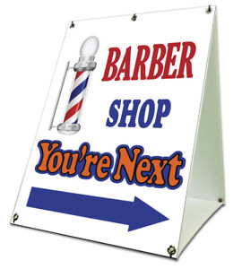 Barber Shop You re Next Sidewalk A Frame 18 x24 Outdoor Store Retail Sign