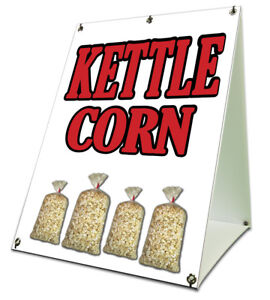 Kettle Corn Sidewalk A Frame 18 x24 Concession Stand Retail Sign