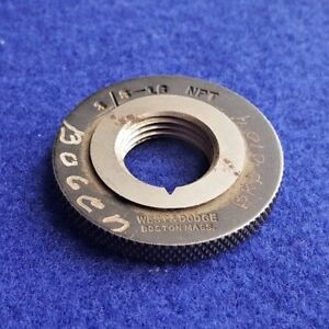 3 8 18 Npt Pipe Taper Thread Ring Gage 375