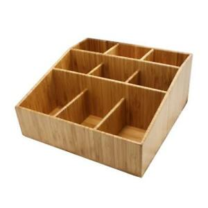 Cal mil 1714 9 Section Bamboo Coffee Organizer