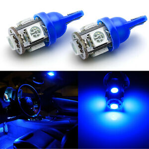 8000k Ultra Blue T10 168 2825 Led Bulbs For Car Interior Lighting Dome Map Light