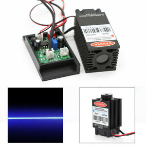 Focusable 2w 450nm 2000mw Blue Laser Module Ttl Outer Driver Engrave Cutter