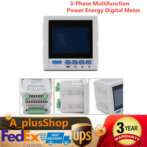 3 phase Multifunction Digital Volt Power Meter Energy Accumulation Rs485 V A Hz