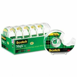 Scotch Magic Office Tape Refillable Dispenser 3 4 X 650 Clear Six pack
