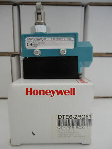 Honeywell Dte6 2rq81 Limit Switch Cross Roller Plunger Nib