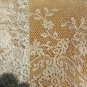 Antique French Silver Metal Lace