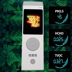 Formaldehyde Pm2 5 P10 Detector Hcho Tvoc Aqi Meter Gas Quality Laser Monitor
