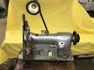 estate Industrial Singer Sewing Machine model 112w116 Double Needle Spins