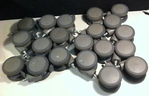 Lot Of 20 Steinco Grey Twin Swivel Casters 9 W locks 11 W o