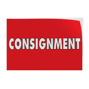 Consignment 1 Indoor Store Sign Vinyl Decal Sticker