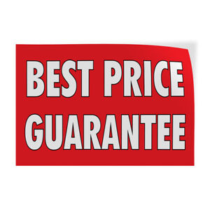 Best Price Guarantee Indoor Store Sign Vinyl Decal Sticker