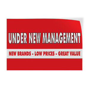 New Management Low Prices Great Value Store Sign Vinyl Decal Sticker
