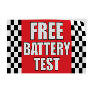 Free Battery Test 1 Indoor Store Sign Vinyl Decal Sticker
