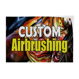 Custom Airbrushing Indoor Store Sign Vinyl Decal Sticker