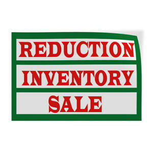 Reduction Inventory Sale Indoor Store Sign Vinyl Decal Sticker