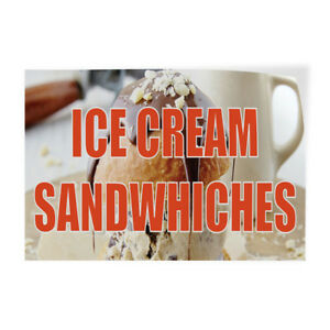 Ice Cream Cookie Sandwiches 2 Indoor Store Sign Vinyl Decal Sticker