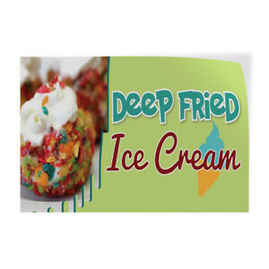 Deep Fried Ice Cream Indoor Store Sign Vinyl Decal Sticker