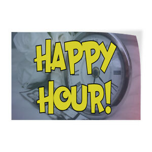Happy Hour 1 Indoor Store Sign Vinyl Decal Sticker