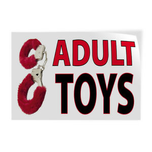 Adult Toys Indoor Store Sign Vinyl Decal Sticker