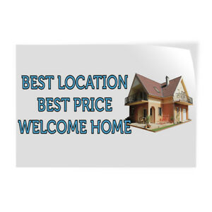 Best Location Best Price Welcome Home Indoor Store Sign Vinyl Decal Sticker