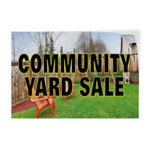 Community Yard Sale 1 Indoor Store Sign Vinyl Decal Sticker