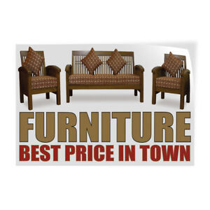 Furniture Best Price In Town Indoor Store Sign Vinyl Decal Sticker