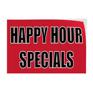 Happy Hour Specials Indoor Store Sign Vinyl Decal Sticker